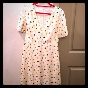 Madewell- short sleeved floral dress